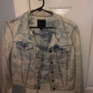 Jessica Simpson acid wash blue jean jacket